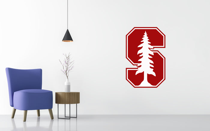 Stanford Cardinal Basketball NCAA Wall decal Sticker