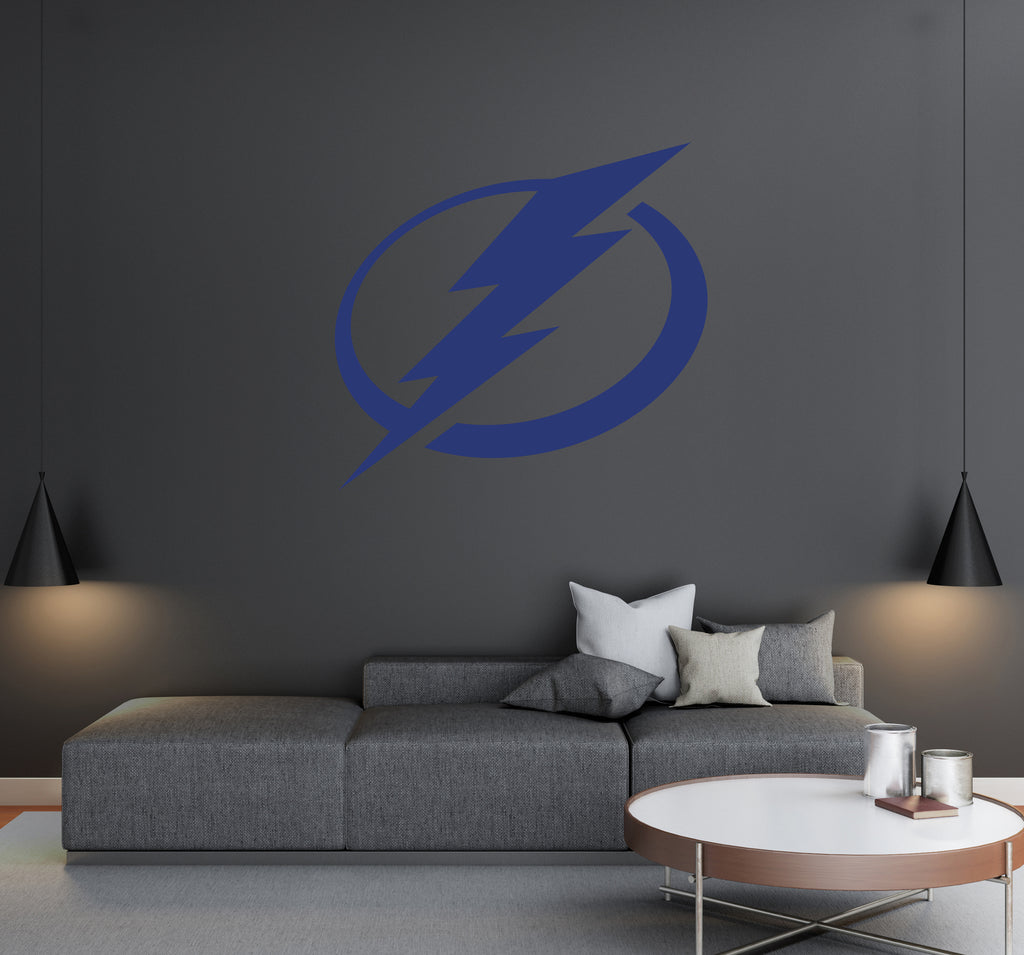 Tampa Bay Lightning - NHL Hockey Team Logo - Wall Decal Removable & Reusable For Home Bedroom