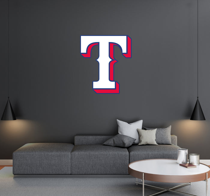 Texas Rangers Logo Wall Decal