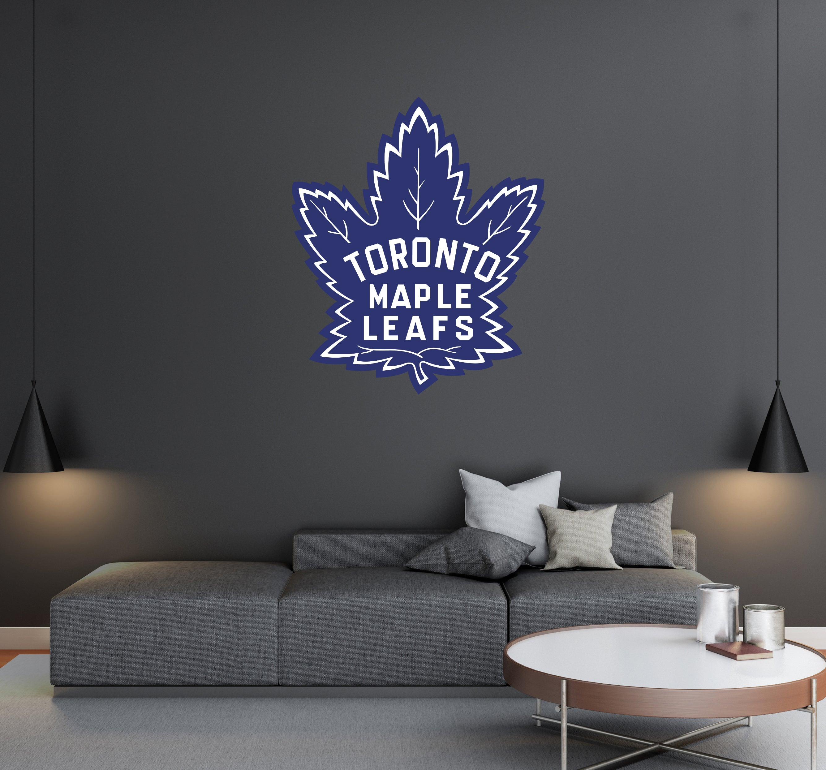 Toronto Maple Leafs - NHL Hockey Team Logo - Wall Decal Removable & Reusable For Home Bedroom