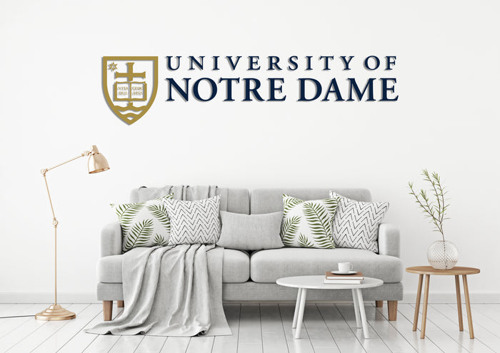 University of Notre Dame USA Indiana Universities Logo Wall decal Stickers