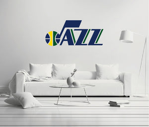 Utah Jazz - NBA Basketball Team Logo - Wall Decal Removable & Reusable For Home Bedroom