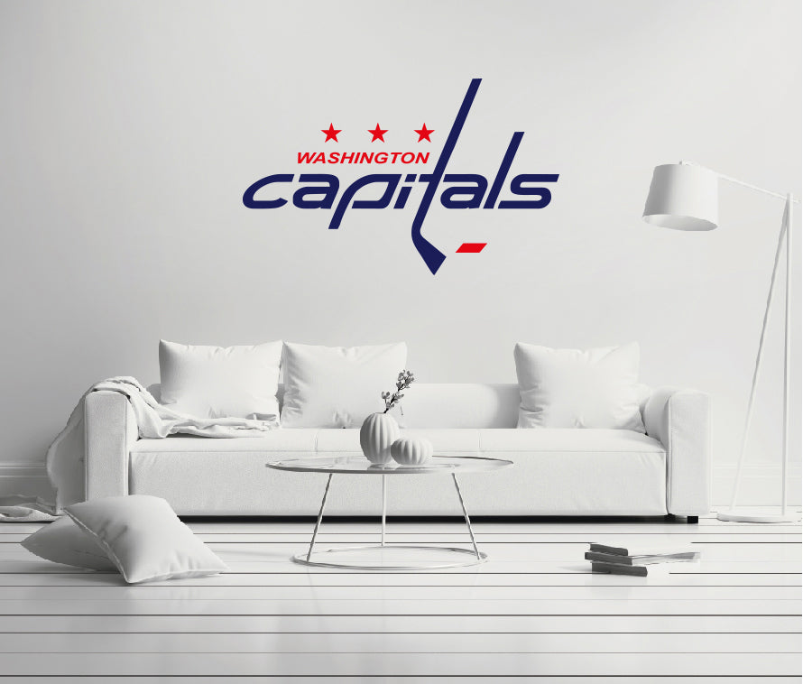 Washington Capitals - NHL Hockey Team Logo - Wall Decal Removable & Reusable For Home Bedroom