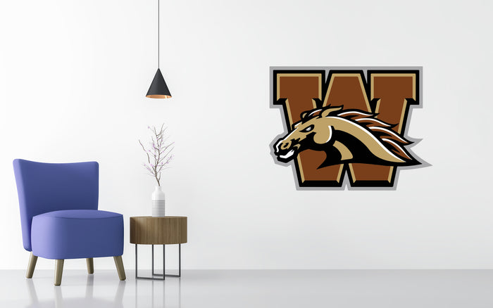 Western Michigan Basketball NCAA Wall decal Sticker
