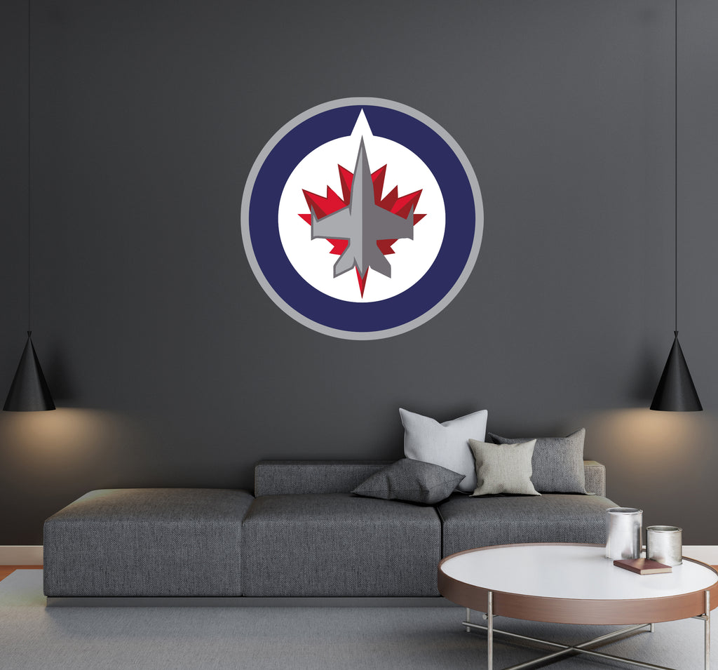 Winnipeg Jets - NHL Hockey Team Logo - Wall Decal Removable & Reusable For Home Bedroom