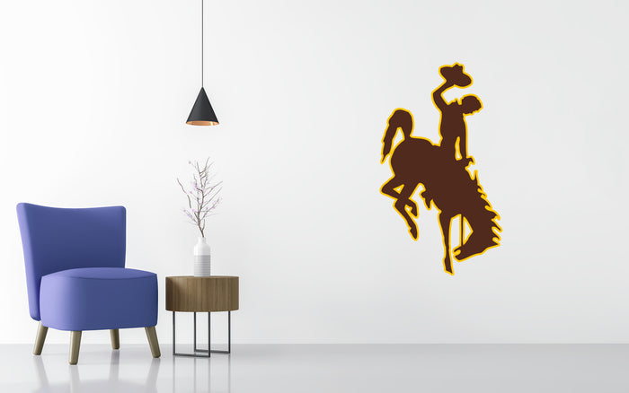 Wyoming Cowboys Basketball NCAA Wall decal Sticker