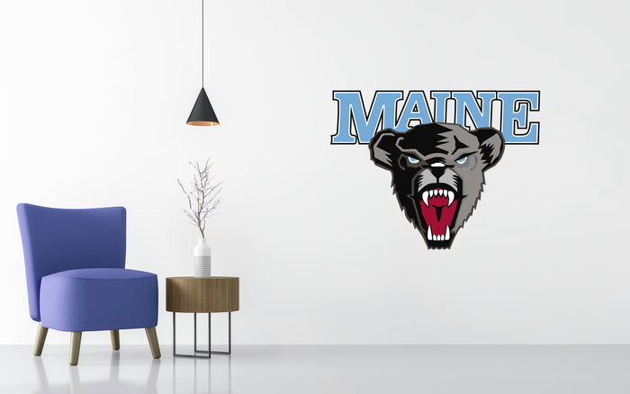 Maine Black Bears Basketball NCAA Wall decal Sticker