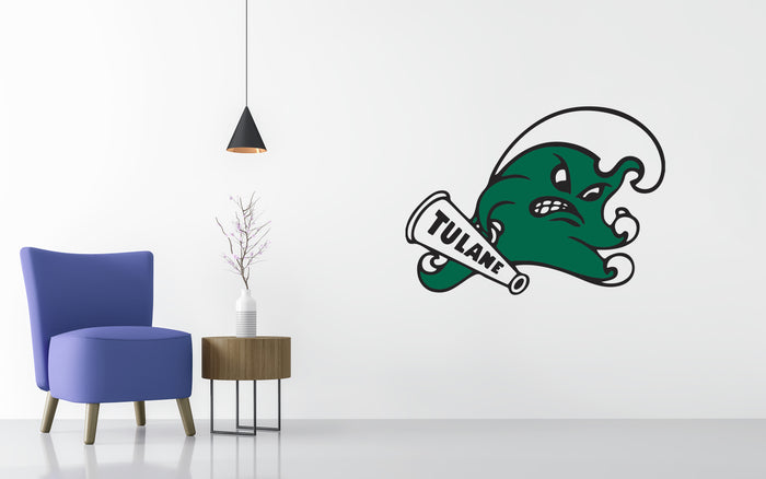 Tulane Green Basketball NCAA Wall decal Sticker