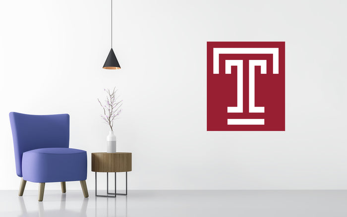 Temple Owls Basketball NCAA Wall decal Sticker