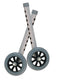 "Walker Wheels with Two Sets of Rear Glides, for Use with Universal Walker, 5"", Gray, 1 Pair"