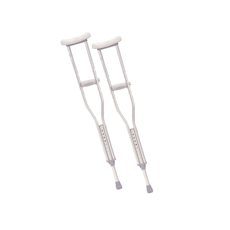 Walking Crutches with Underarm Pad and Handgrip, Youth, 1 Pair