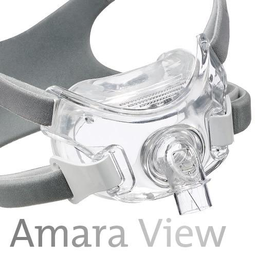 Philips Respironics Amara View Full Face CPAP Mask with Headgear (FitPack)