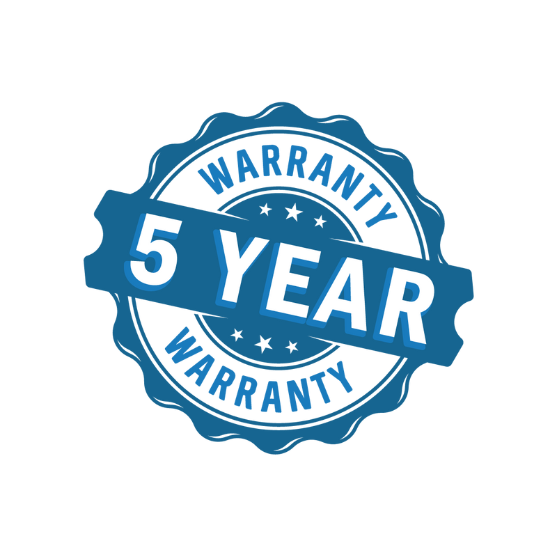 5 Years Bumper To Bumper Warranty On Everflo