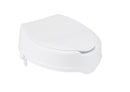Raised Toilet Seat with Lock and Lid, Standard Seat, 4""