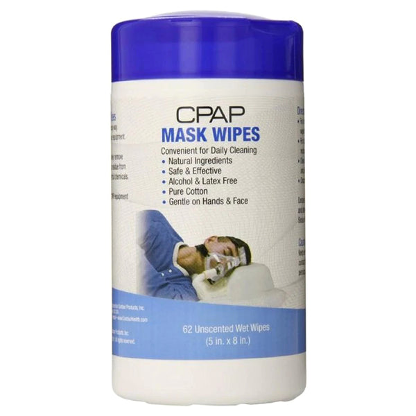 Contour Living CPAP Mask Unscented Wipe, 62 Count