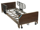 Delta Ultra Light Full Electric Low Hospital Bed with Half Rails and Innerspring Mattress