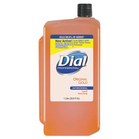 Dial Professional Gold Antimicrobial Liquid Hand Soap, Floral, 1L Refill