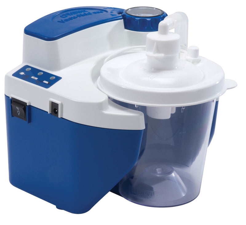 Vacu-Aide Quiet Suction Unit w/ External Filter, Battery & Case