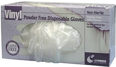 McKesson Cypress Vinyl Powder-Free Disposable Gloves - Large 100 Count