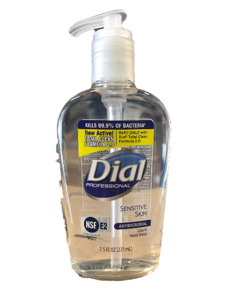 Dial Antimicrobial Soap Sensitive Liquid 7.5 oz. Pump Bottle