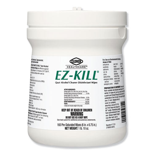Clorox EZ-KILL Quat Alcohol Cleaner Disinfectant Wipes - 160/PK