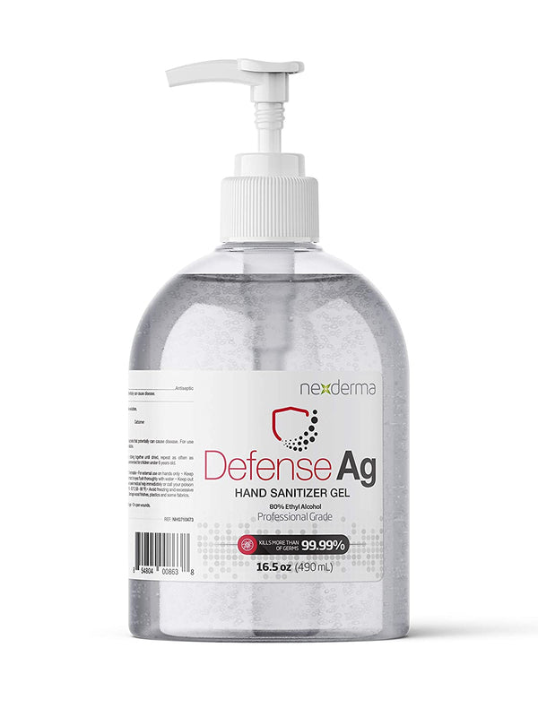 NEXDERMA Defense Ag Hand Disinfectant Gel with 80% Ethyl Alcohol - 16.5 oz
