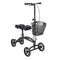 Dual Pad Steerable Knee Walker Knee Scooter with Basket, Alternative to Crutches