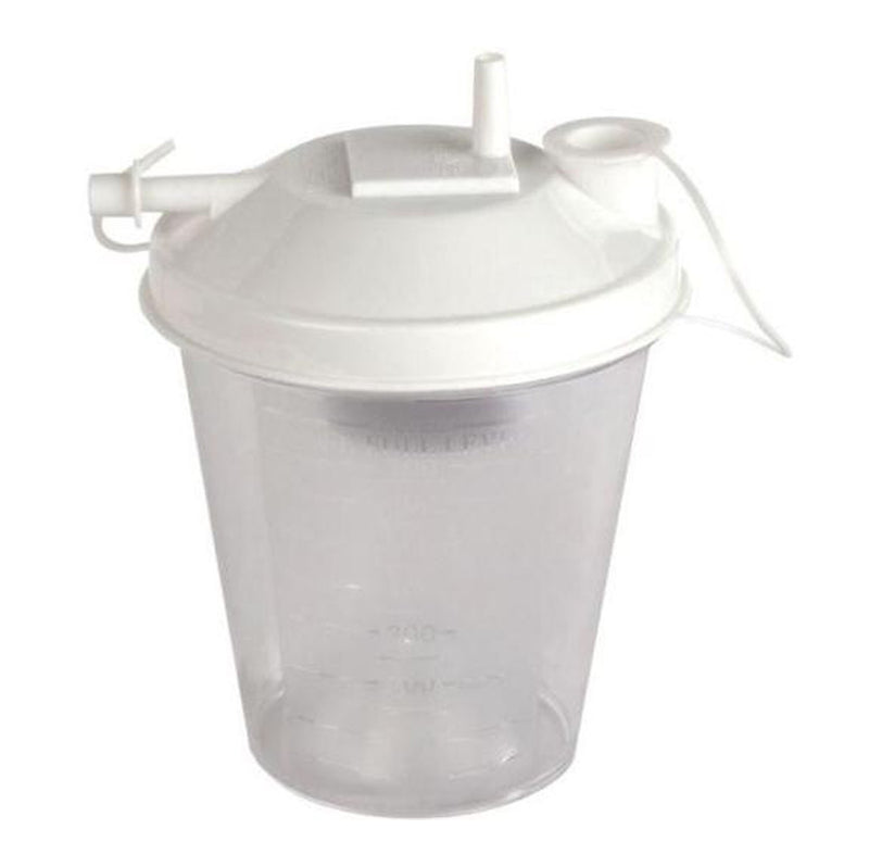 "Sunset HCS Universal Suction Canister, 800cc with 1/4"" Tubing , Suction Tubing Connector, Bacteria Filter"