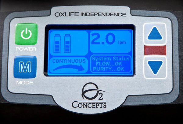 O2 Concepts Oxlife Independence with 2 Batteries - O2 Concepts - 800-0001-2