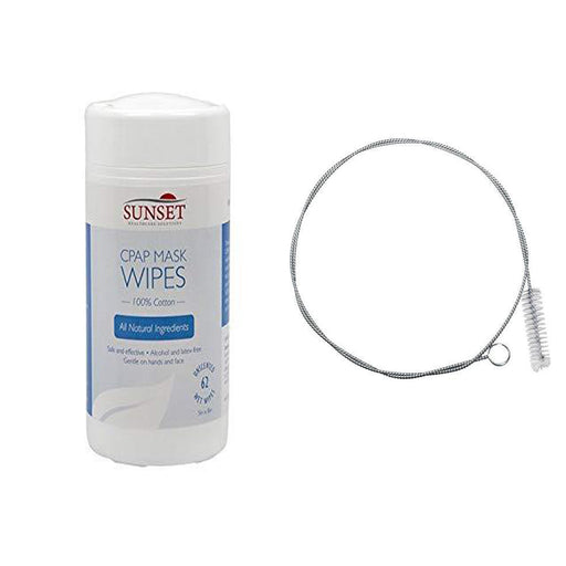 CPAP Cleaning Kit with CPAP Cleaning Wipes - CPAP Tube Cleaning Brush 6'