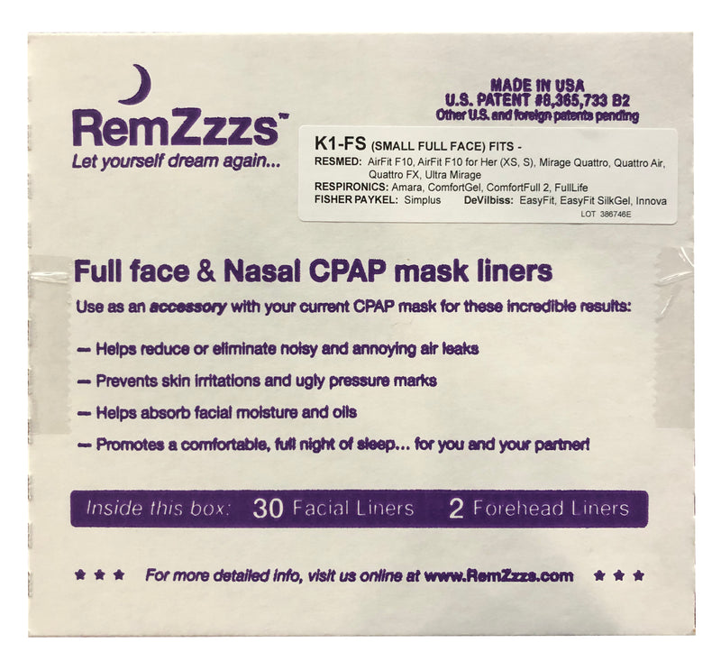 RemZzzs Padded Full Face CPAP Mask Liners for Small Full Face Masks
