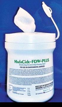 MadaCide-FDW-Plus Disinfectant Surface Cleaner Premoistened Alcohol Based Wipe - 160 Count Canister