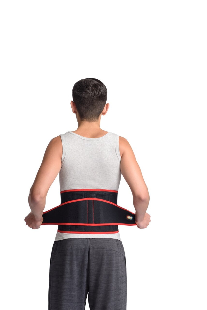 MAXAR Bio-Magnetic Airprene Sport Belt (Lumbosacral Support) - Black w/Red Trim