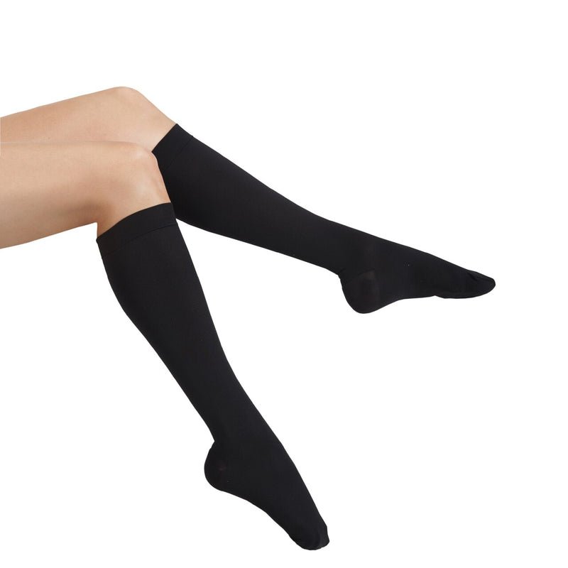 MAXAR Unisex Dress & Travel Support Socks (12-15 mmHg) - Black