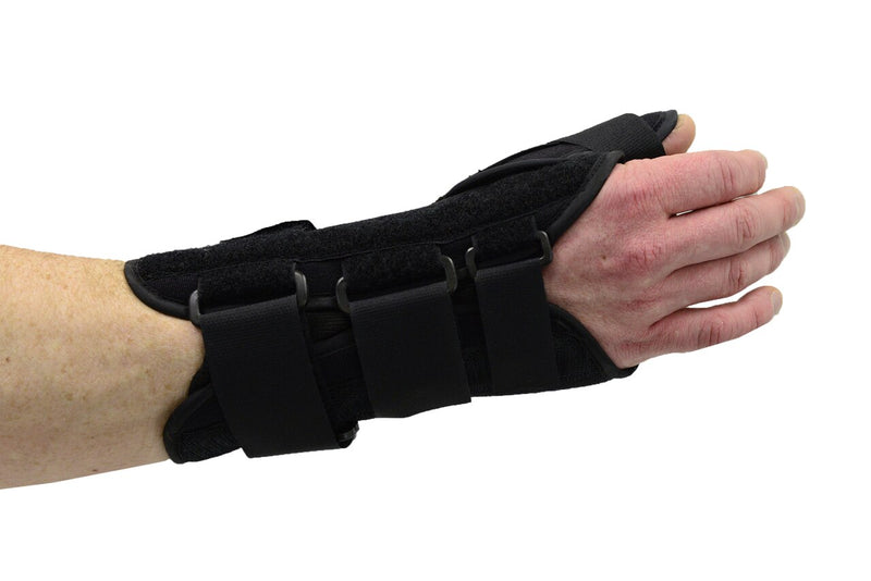 MAXAR Wrist Splint with Abducted Thumb - Left Hand - Black