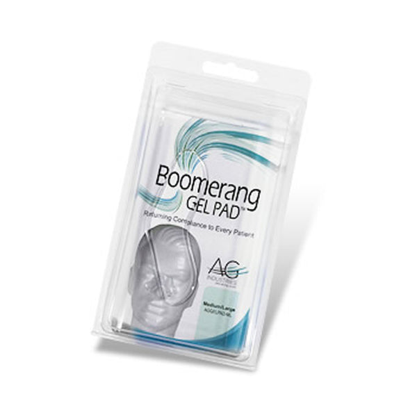 AG Industries Boomerang Gel Pad For CPAP/BiPAP Masks, Medium/Large