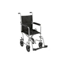 "Lightweight Transport Wheelchair, 19"" Seat, Silver"