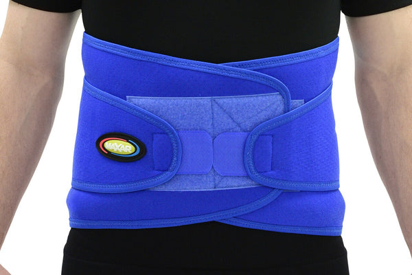 MAXAR Airprene Sport Belt (Breathable Neoprene Lumbosacral Support) - Blue