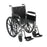 "Chrome Sport Wheelchair, Detachable Full Arms, Swing away Footrests, 20"" Seat"