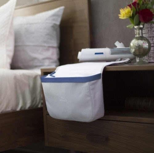 Mask and tubing bedside organizer