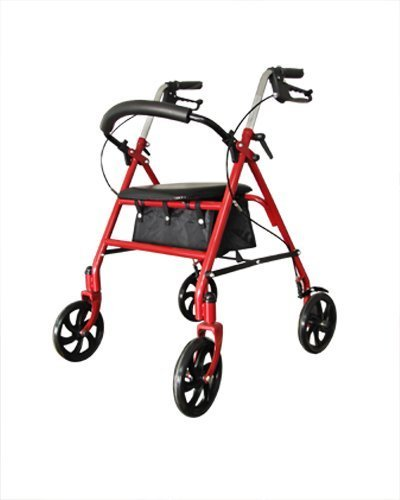 Aluminum Easy Walk Royal Rollator - Red