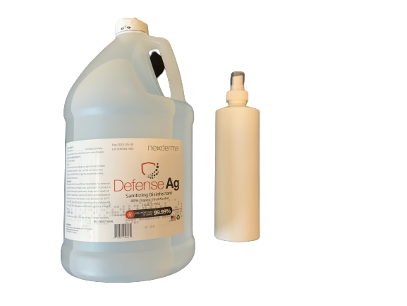 Nexderma Defense Ag Sanitizing Disinfectant w/Spray Bottle - 1 Gallon