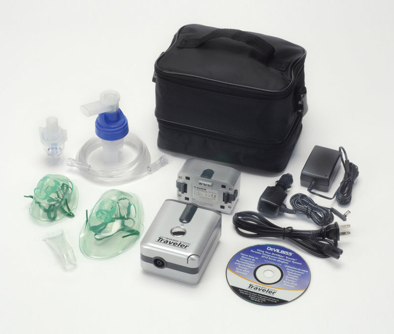 Traveler Portable Compressor Nebulizer System with Battery