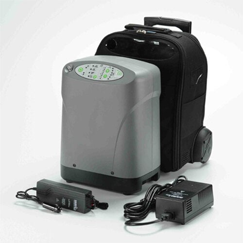 DeVilbiss Healthcare iGo Portable Oxygen Concentrator with Wheeled Case