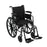 Cruiser III Light Weight Wheelchair with Flip Back Removable Arms, Adjustable Height Desk Arms, Swing away Footrests, 16""