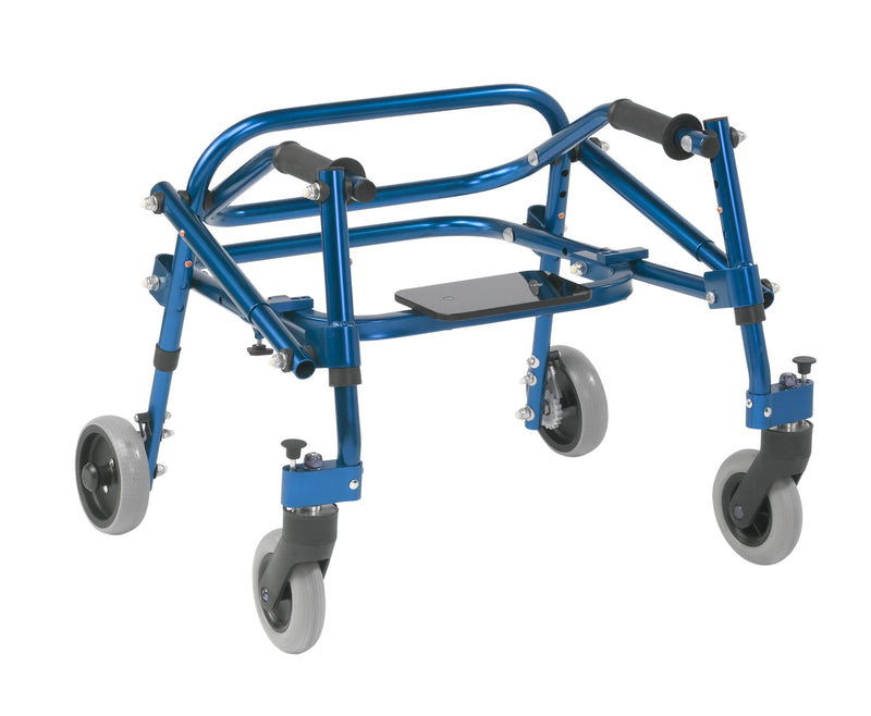 Nimbo 2G Lightweight Posterior Walker with Seat, Extra Small, Knight Blue