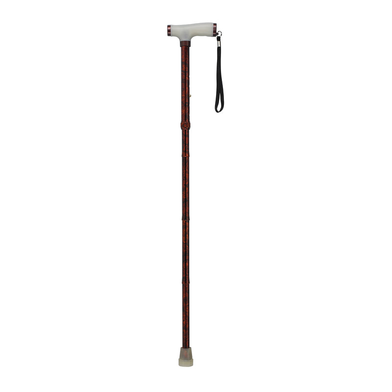 Folding Cane with Glow Gel Grip Handle, Copper