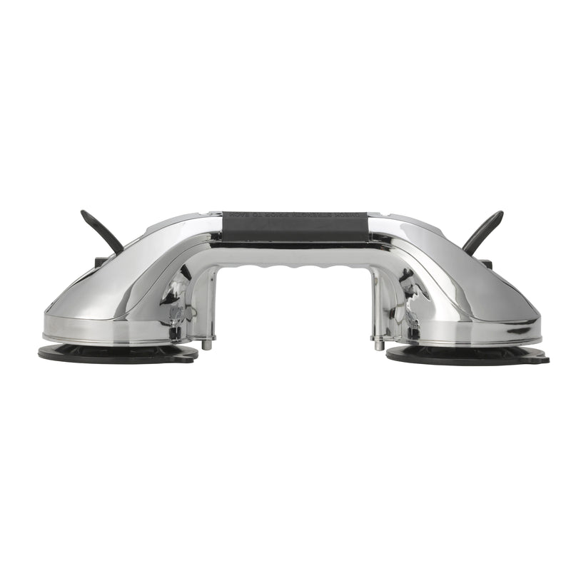 "Suction Cup Grab Bar, 12"", Chrome and Black"