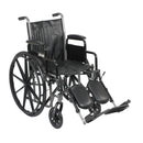 "Silver Sport 2 Wheelchair, Detachable Desk Arms, Elevating Leg Rests, 16"" Seat"