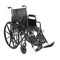 "Silver Sport 2 Wheelchair, Detachable Desk Arms, Elevating Leg Rests, 18"" Seat"